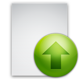 Up, Green, Files Upload File Icon image #43255