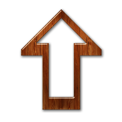 up wood arrow sign png