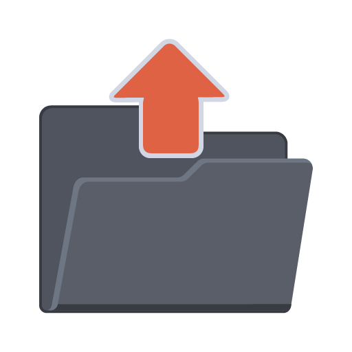 Upload Folder, Document, File, Upload, Upload Document Icon image #43257