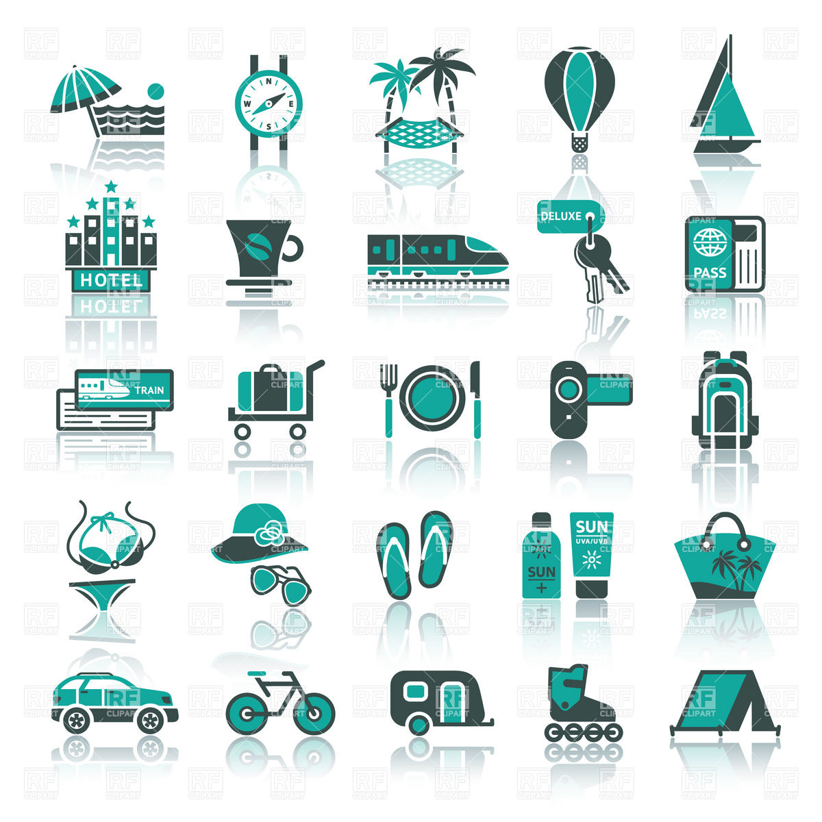 Vacation, travel and tourism icon set, Icons and Emblems, download