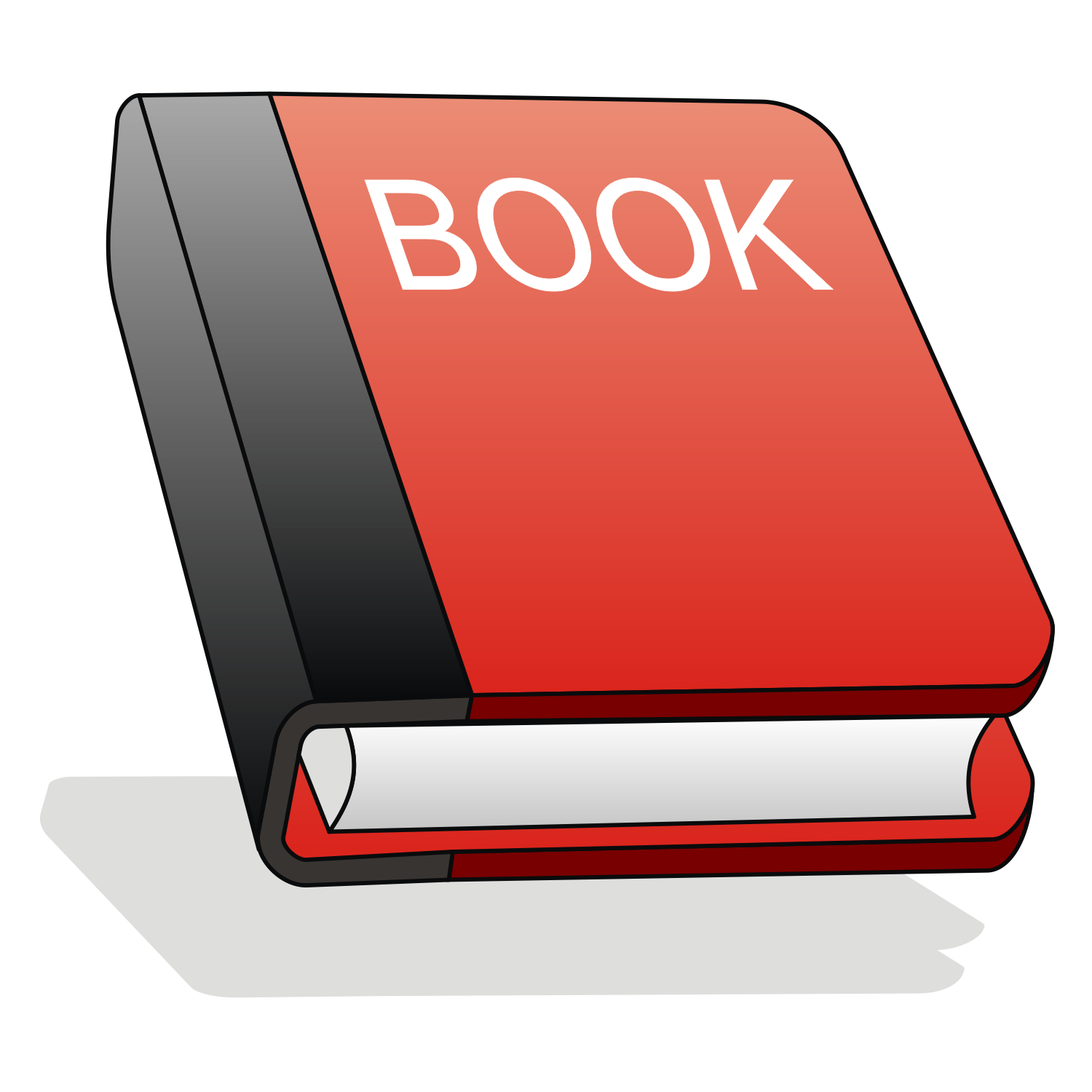 Vector for free use: Red book icon