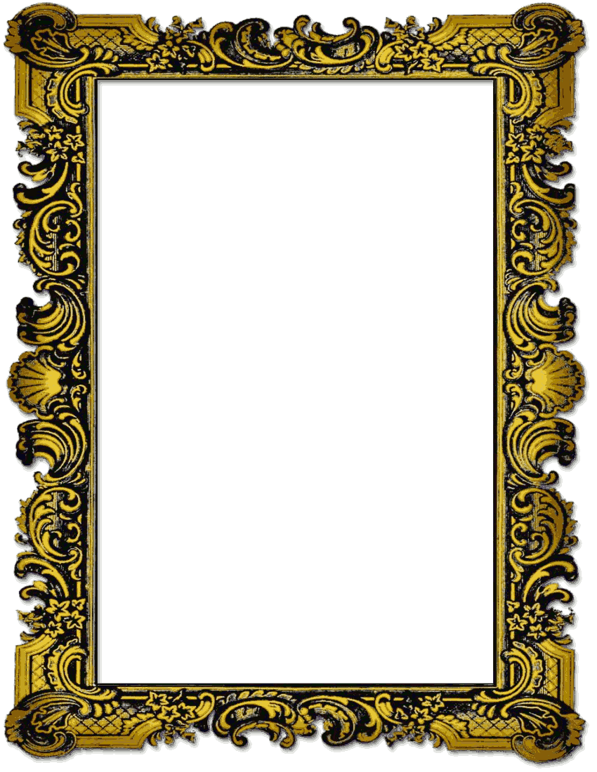vintage photo frame png image 24577