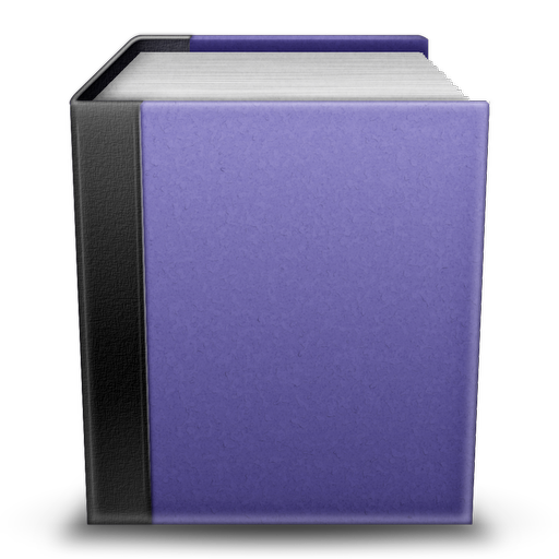 Violet Book Icon  someBooks Icons  SoftIconsm