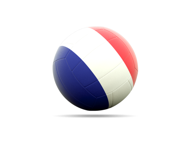 Volleyball Flag Icon Of France image #3264