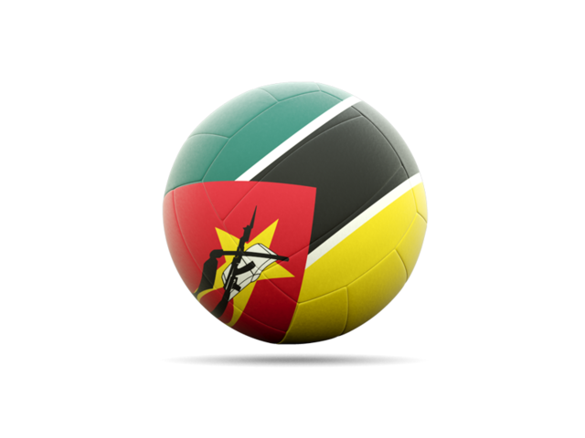 Volleyball Flag Icon Of Mozambique image #3271