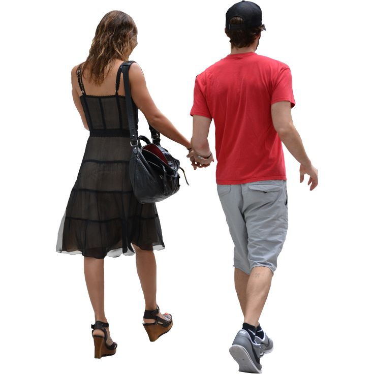 Walking Couple People Png image #32493
