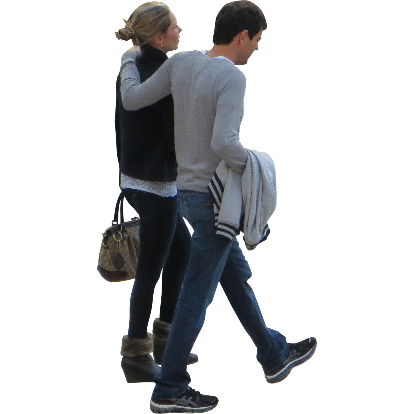 Walking Couple People Png image #32494