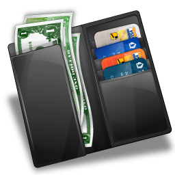 Wallet With Money And Credit Card PNG image #42768
