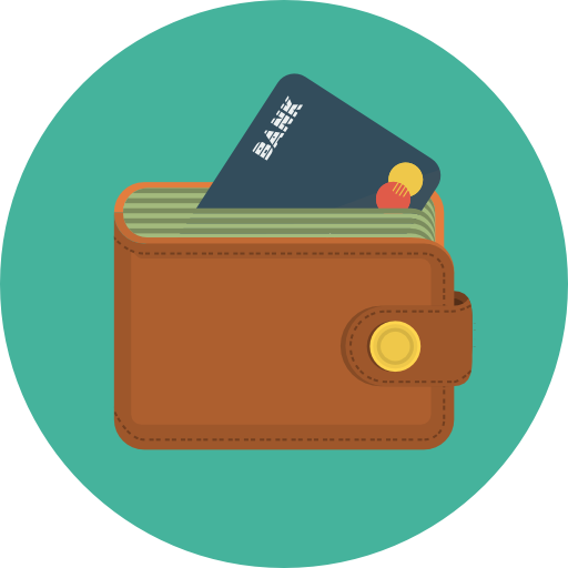 Wallet With Money Icon image #42792