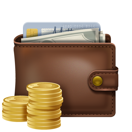 Wallet With Money PNG image #42763