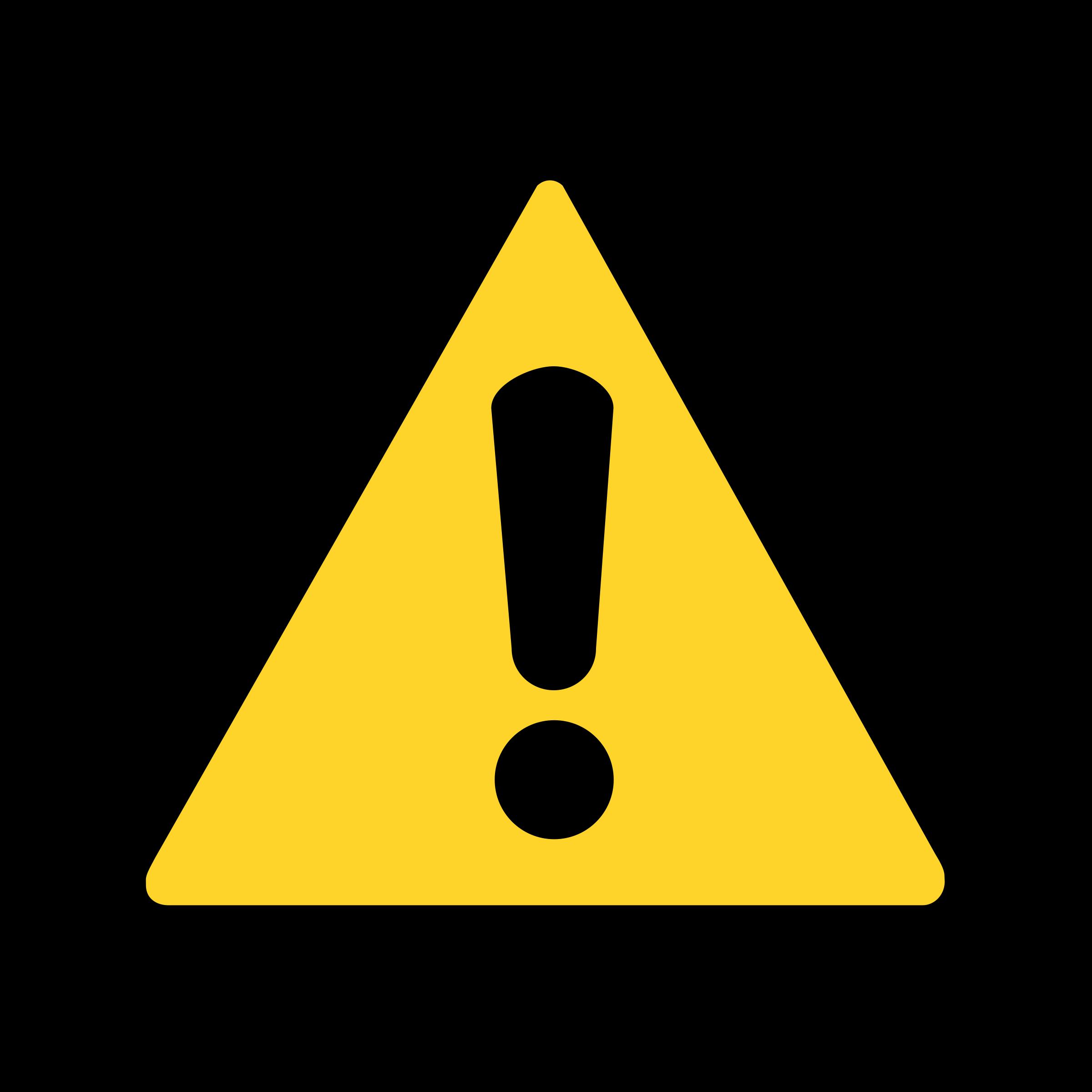 Résultats de recherche d'images pour «warning symbol png»