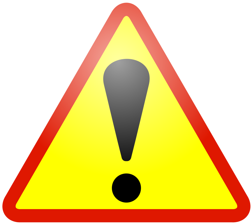 Warning icon red border
