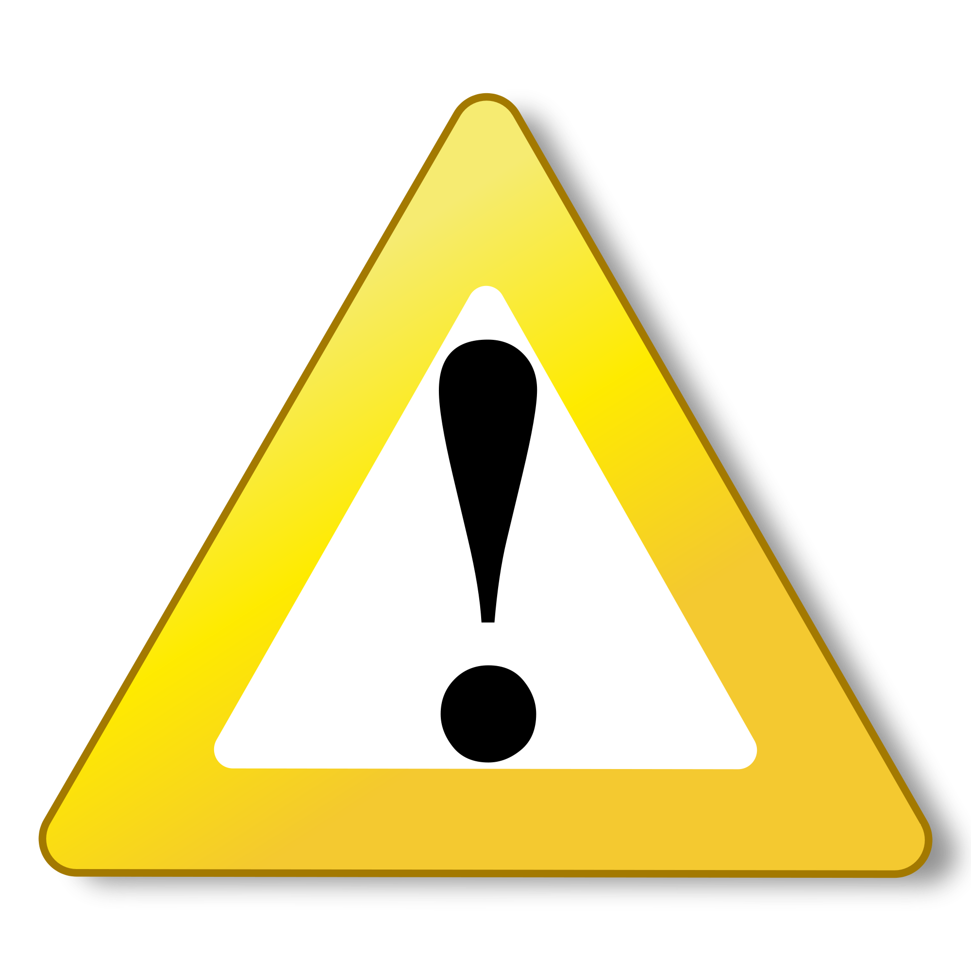warning yellow icon