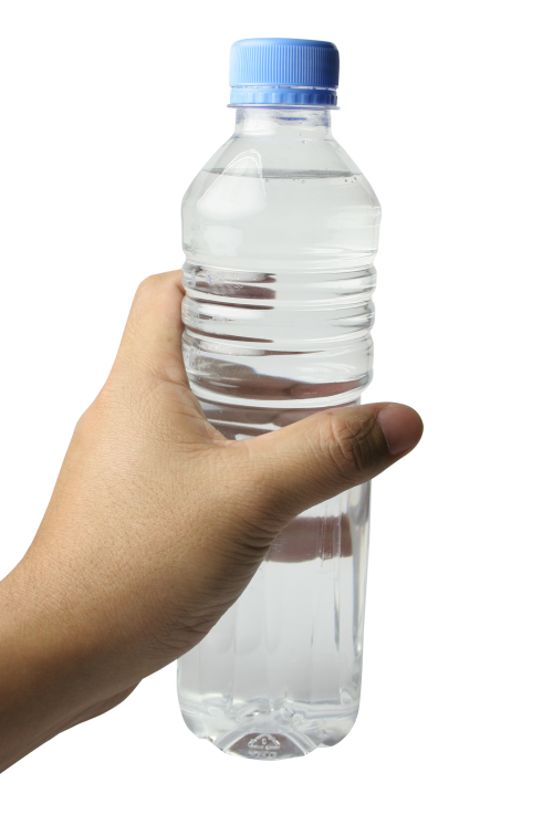 water bottle in hand png