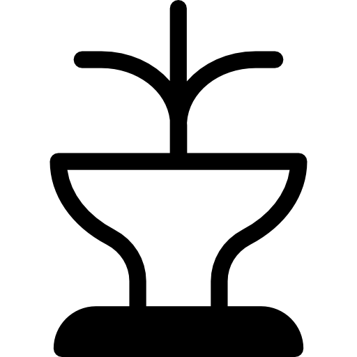 Drawing Icon Water Fountain
