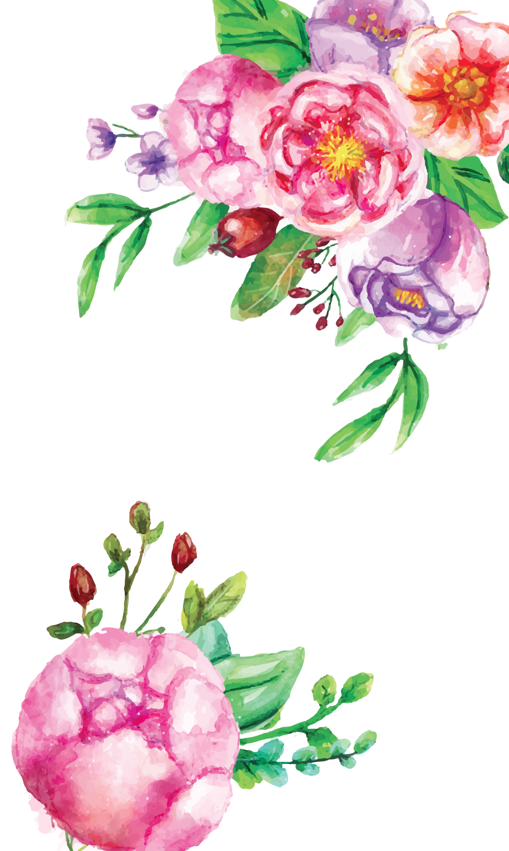Watercolor Flowers Clipart image #46962