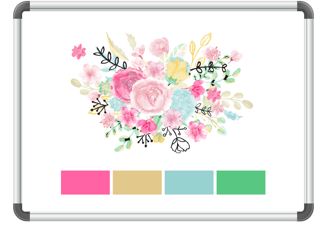 Watercolor Flowers Graphisc Frame image #46952