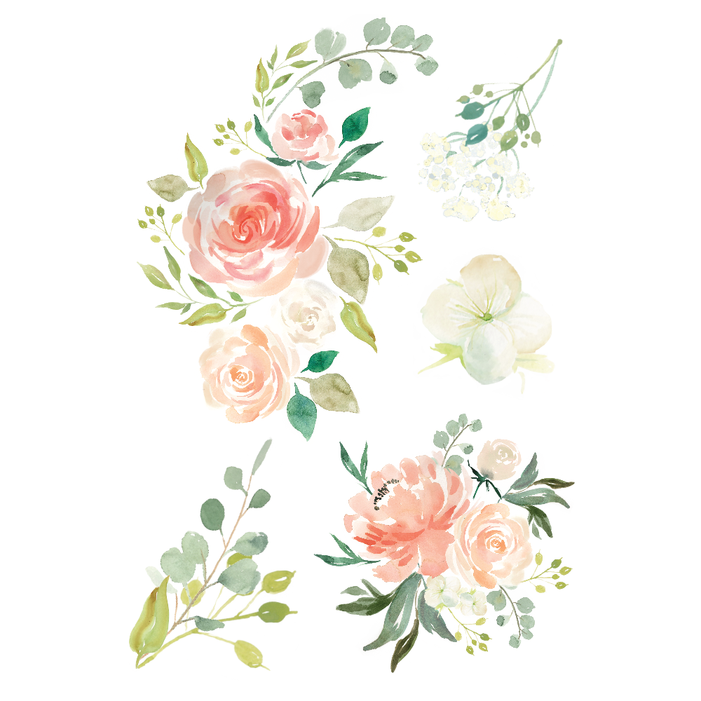 Watercolor Flowers Vector Tattoo image #46950