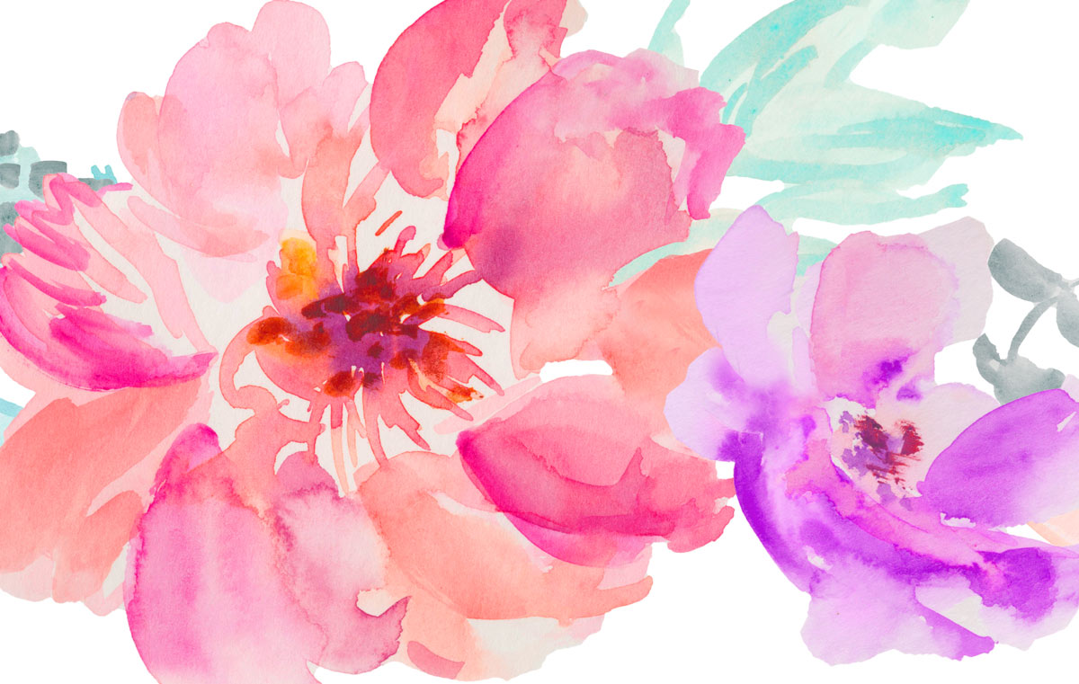 Watercolor Moders Style Flowers image #46955