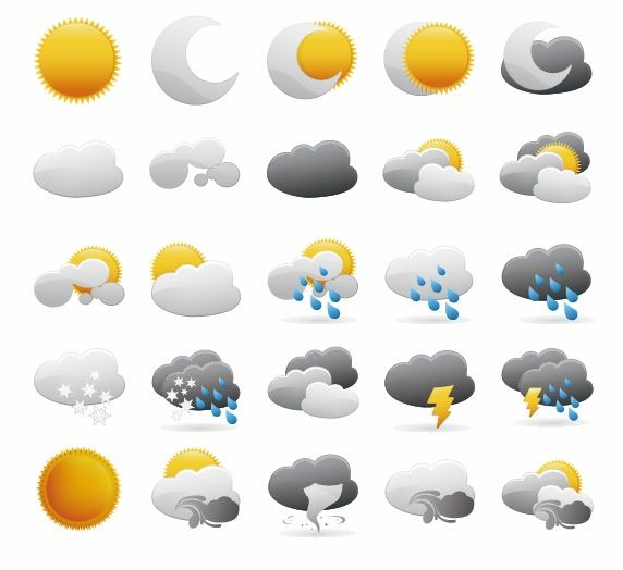Weather Icons Vector Graphic | Free Icon | All Free Web Resources for