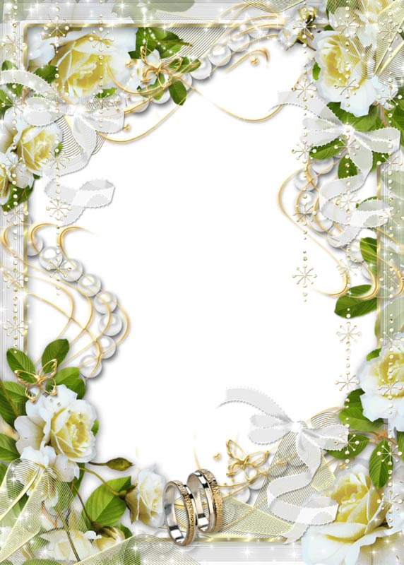 Picture Wedding Frame PNG image #35202