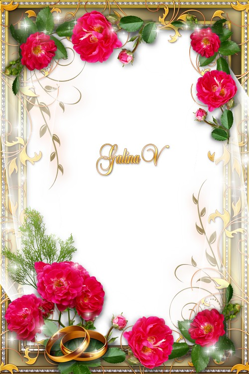 Background Png Wedding Frame Transparent #35205 - Free Icons
