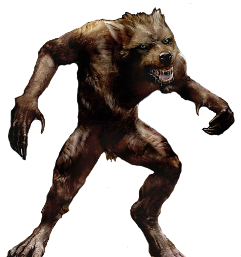 Werewolf, Grizzly Bear Clip Art, Image, Vector Free Png image #48857