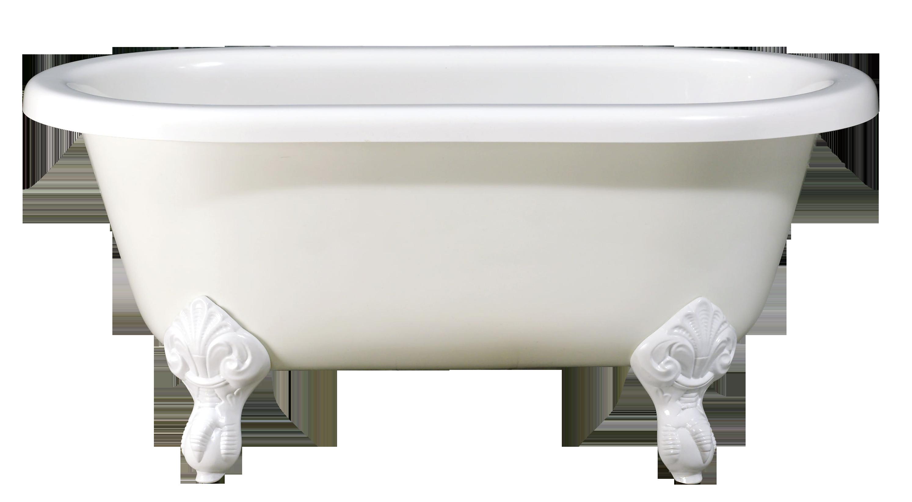 White Bathtub Png image #44772