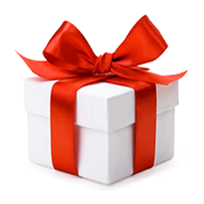White Box With Red Bow Gift Png image #39678