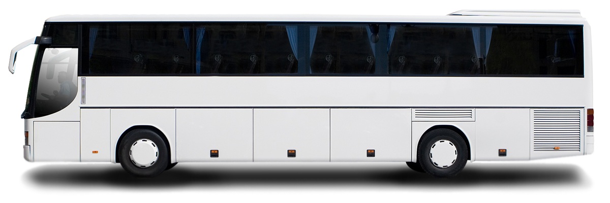 White Bus Png image #40047