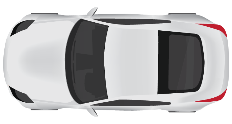 White car, parking, meter, top png