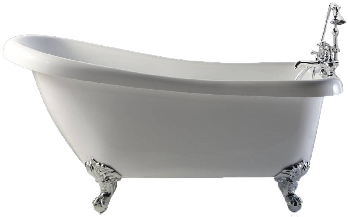 White Classic Bath Png image #44763