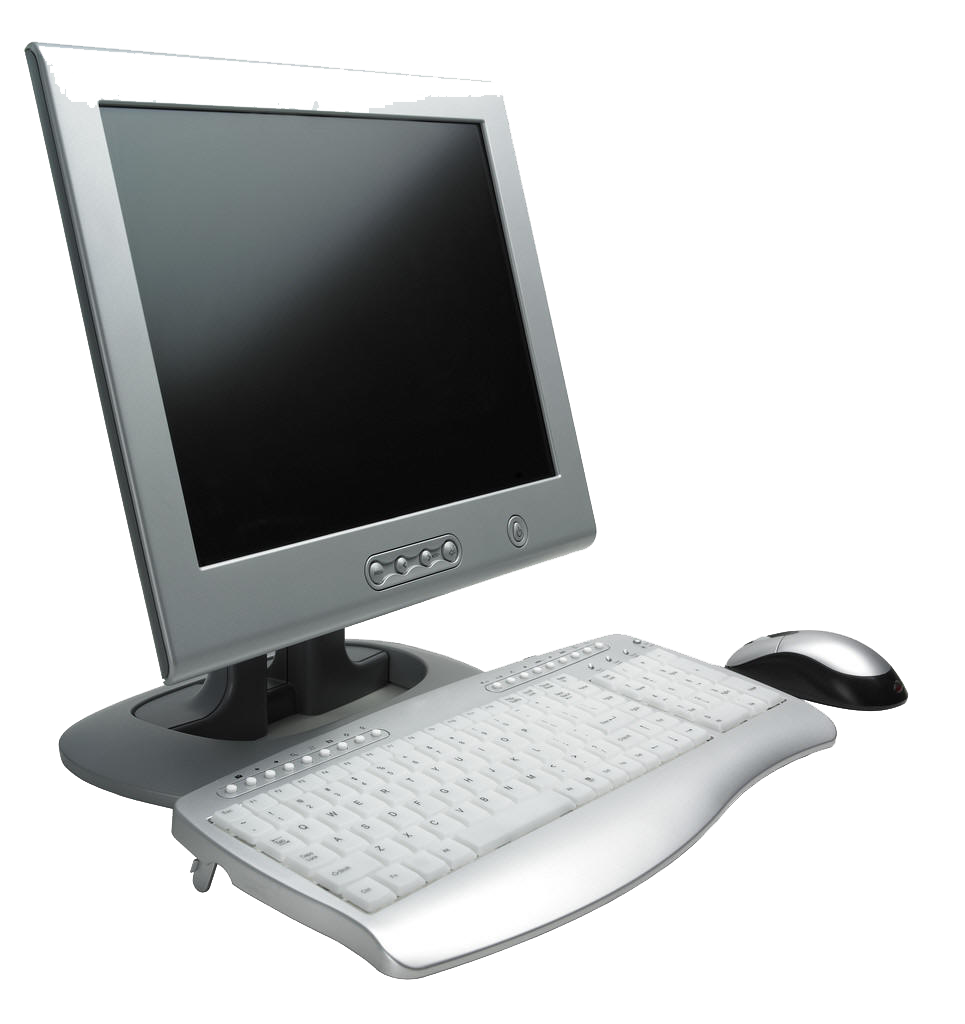 white computer PC free PNG