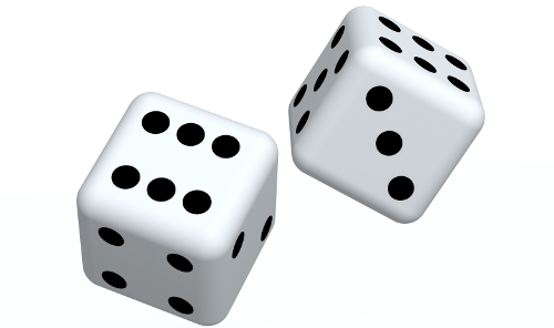 White Dice Png image #27642