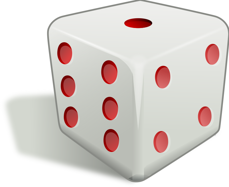 White Dice Png Dice 3d image #41778