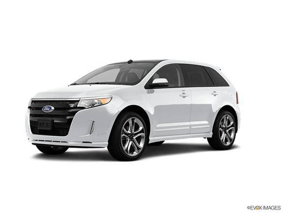white ford edge png