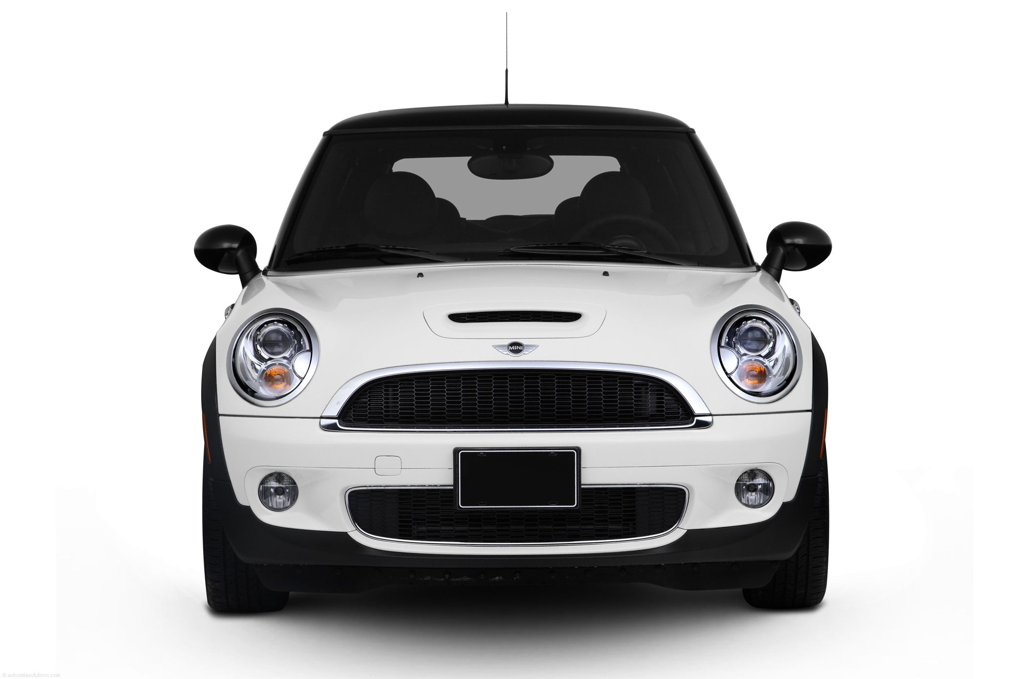 White Mini Cooper car front png