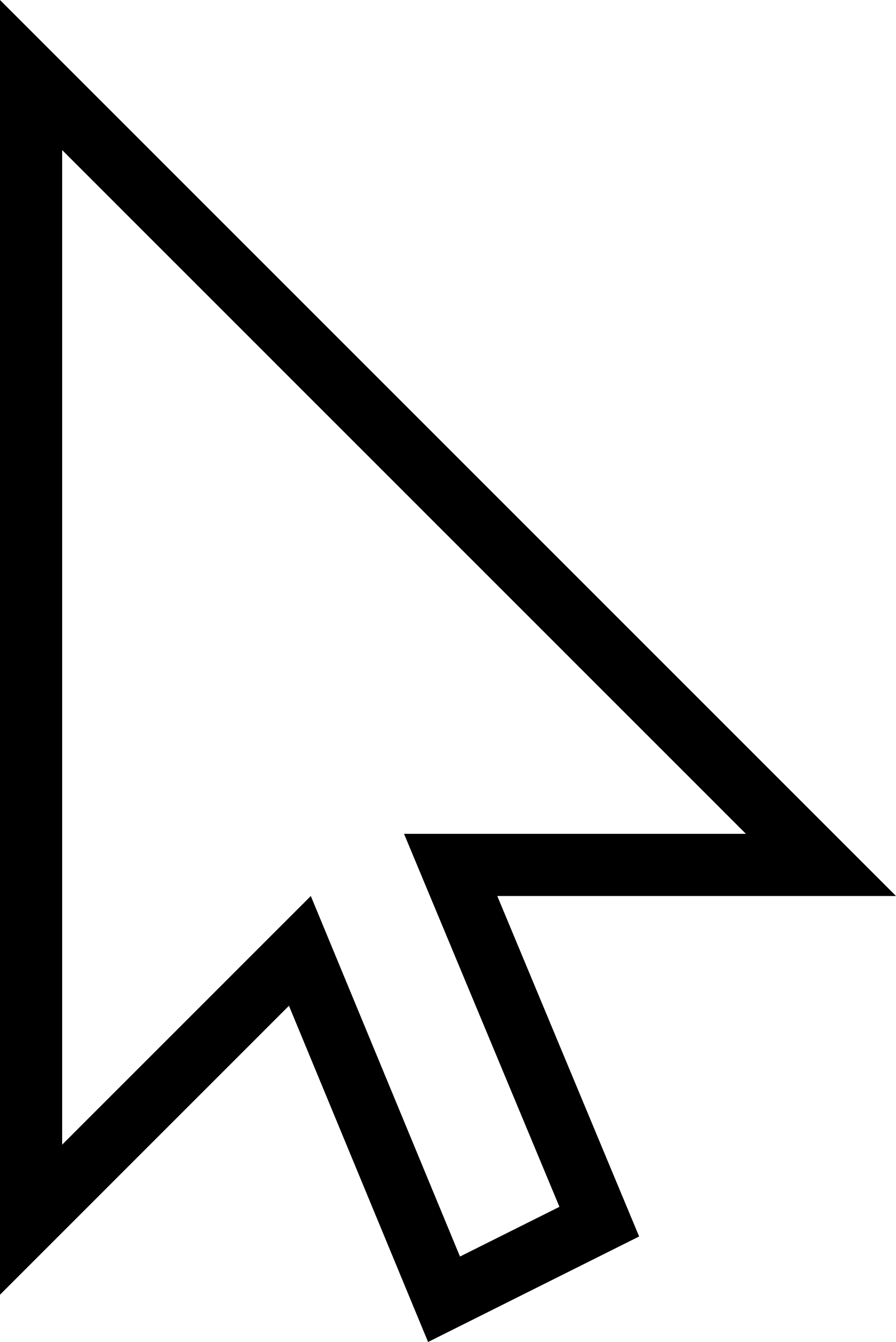 White Mouse Cursor Arrow by qubodup