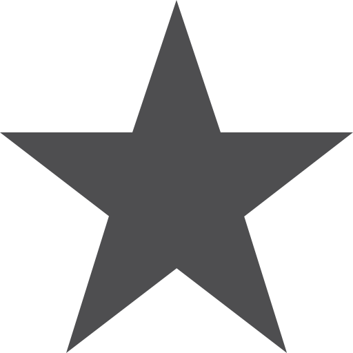 Icon White Star Symbol