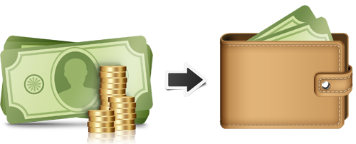 WingCash Services, Wallet, Money, Coins Png image #42776
