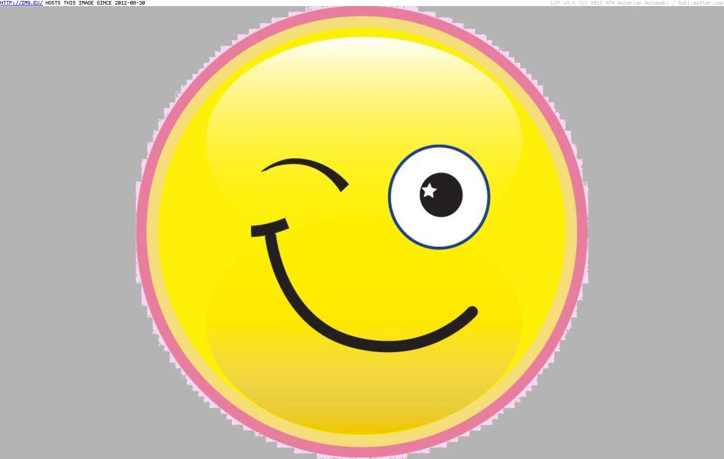 Vector Icon Winking Smiley image #14757