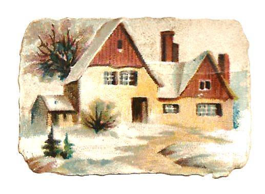Image Winter House Transparent PNG