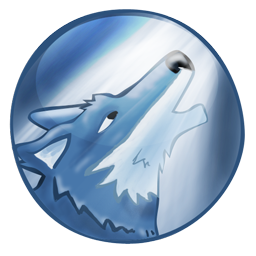 wolf icon blue moon