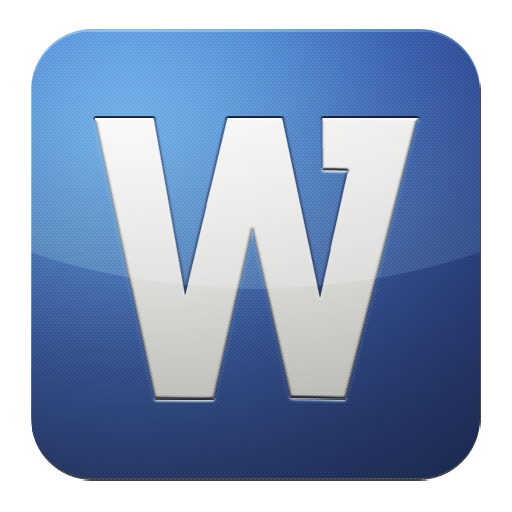 Word Icon Png image #4017
