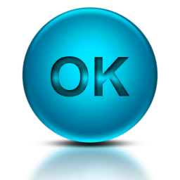 Word OK Icon blue