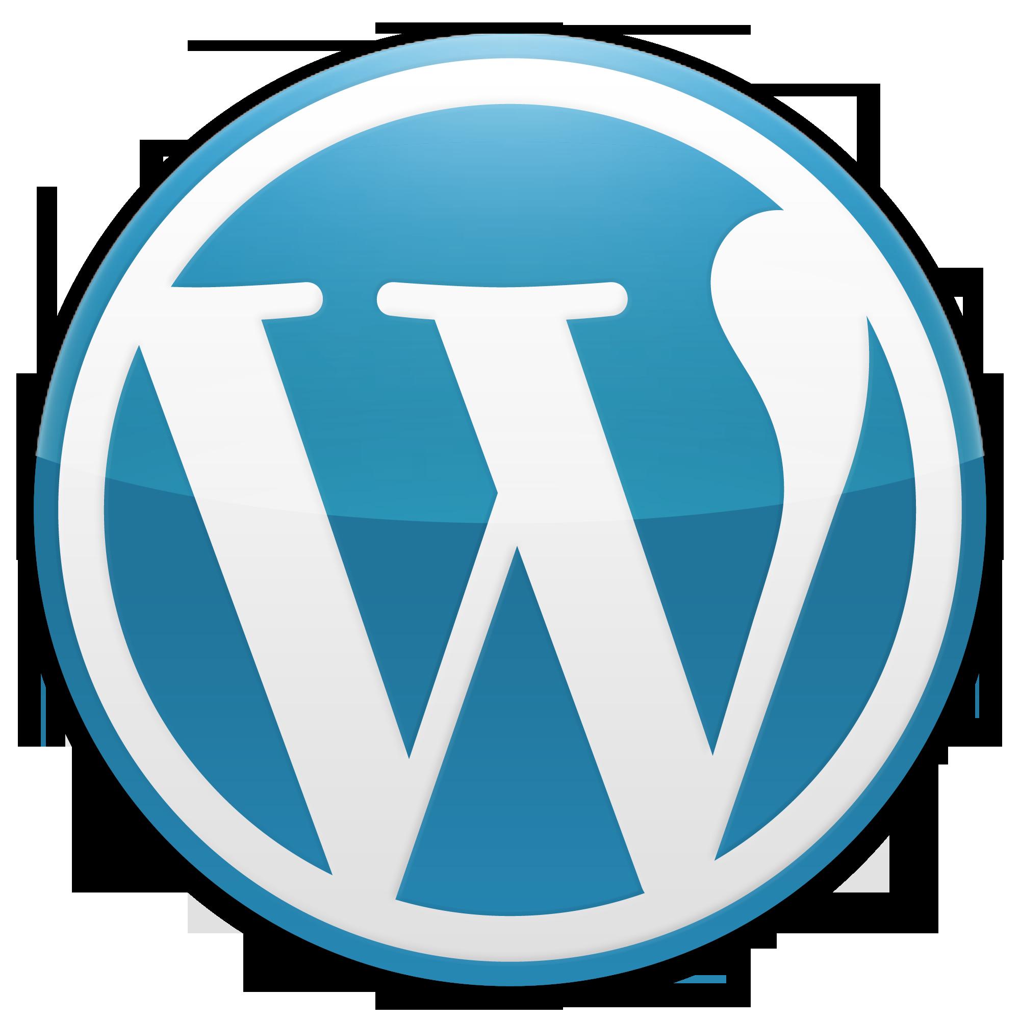 Wordpress blue cirlce Logo png