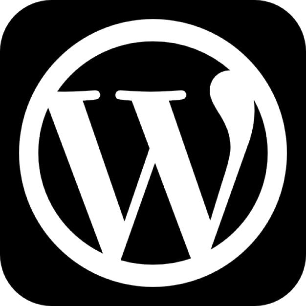 Wordpress square black symbol