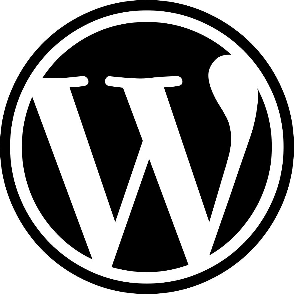 Wordpress transparent Logo icon png