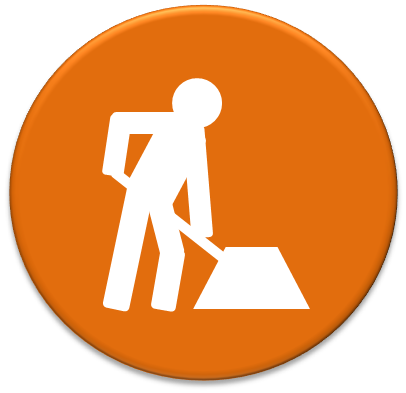 Work Icon Construction road work icon