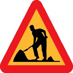 work, man, workman, roadsign icon